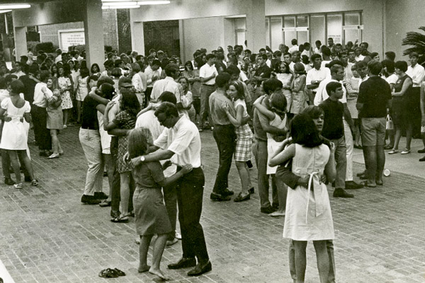 Outdoor dance at Oglesby Union circa 1960s