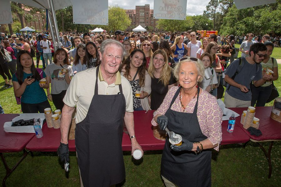 The Florida State University community is invited to come enjoy fun in the sun, ice cream, entertainment and more at the annual President's Ice Cream Social on Wednesday, April 12. (Photo: UC Photography Services)