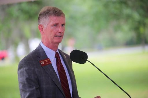 College of Medicine Dean John P. Fogarty delivers remarks in advance of the FSU PrimaryHealth groundbreaking.
