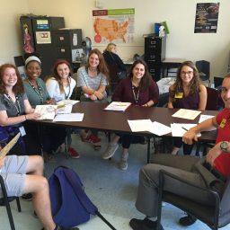 Will Boose and Sophia Gallo visiting Lush Charter School. (Photo: Will Boose)