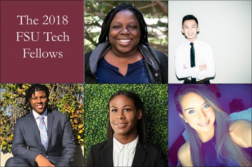 Five Florida State University first-generation college students are spending their summer break working at top technology-based startup companies across the state of Florida thanks to the Tech Fellows program. (Photo: Tech Fellows program)