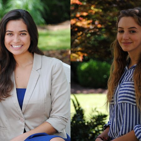 FSU rising juniors Jennifer Magi and Anna Wuest received the Ernest F. Hollings Undergraduate Scholarship from the National Ocean and Atmospheric Administration (NOAA).