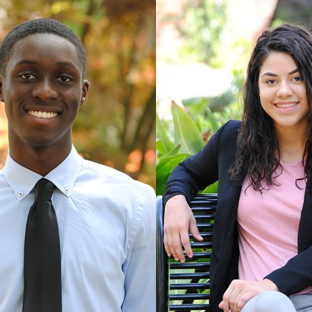 FSU rising sophomores Brian Brown and Ashley Rosado will study at the University of Bristol through the Fulbright UK Summer Institutes program.