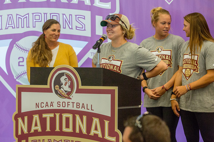Celebration to honor the National Championship FSU Softball team. (Photo: FSU Photography Services)