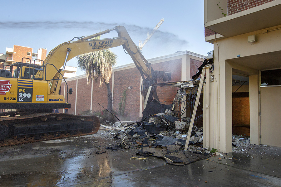 Demolition at Oglesby Union began June 27, 2018. Visit https://new.union.fsu.edu/ for more information. (FSU Photography Services)