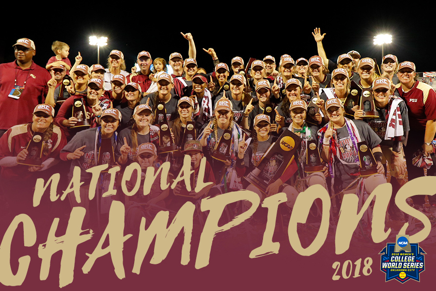 Image result for seminoles win 2018 wcws championship