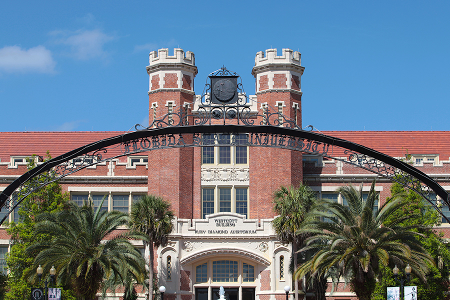 Florida State University will begin administering classes online Monday, March 23, to help mitigate the spread of the novel coronavirus. (FSU Photography Services)