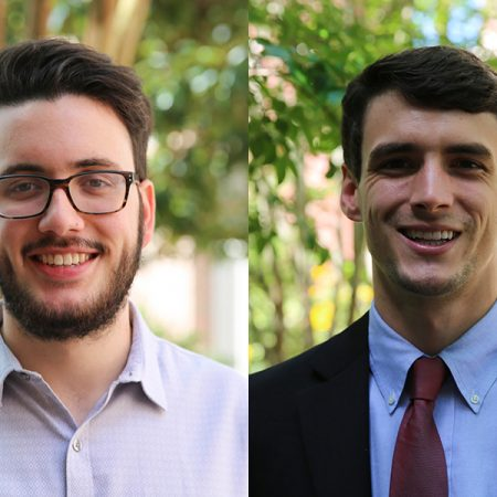 FSU's 2018 Frost Scholars, Matthew Martinez and Joe Pelt