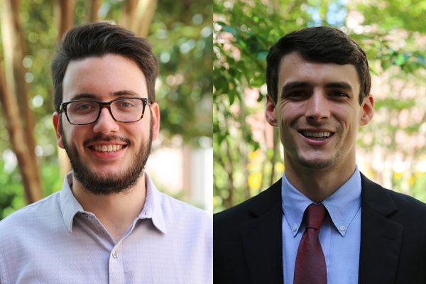 FSU's 2018 Frost Scholars, Matthew Martinez and Joe Pelt