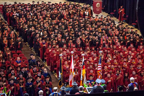 Florida State University held two summer ceremonies for the first time in school history. (FSU Photography Services)