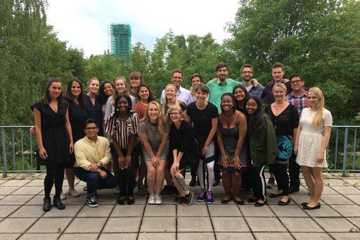 FSU & TU Dresden students gather around for their farewell dinner.