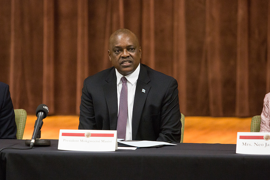 Botswana President Masisi meets with FSU students during a town hall event Thursday, Sept. 20, 2018. (FSU Photography Services)