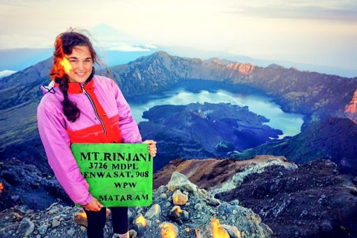 An FSU IDEA Grant allowed Dodamead to conduct research in Bangladesh and on the way there, she stopped in Indonesia to climb an active volcano, Mt. Rinjani, which has an elevation of more than 12,000 feet.