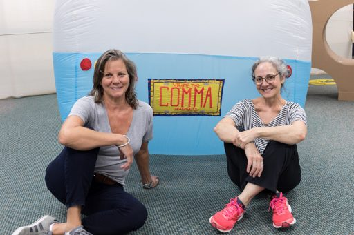 Art professors Carolyn Henne and Judy Rushin are reinventing the traditional definition of an art gallery with their art collective, Commabox .