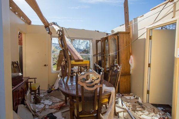 Molly King's home was completely destroyed by Hurricane Michael. (Bill Lax/FSU Photography Services)