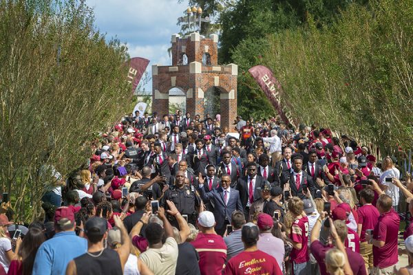 FSU Homecoming Week festivities conclude with a 38-17 football victory over Wake Forest Saturday, Oct. 20, 2018. (FSU Photography Services)