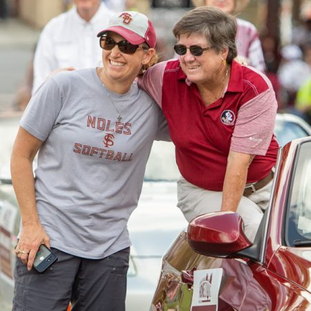 Former FSU softball coach JoAnne Graf was among the alumni honored during 2018 Homecoming activities. (FSU Photography Services)