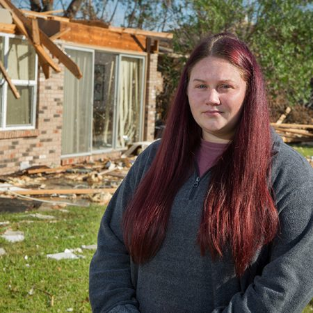 Molly King, a senior at FSU Panama City, lost her home in Hurricane Michael, but she refuses to let that get in the way of earning a degree. (Bill Lax/FSU Photography Services)