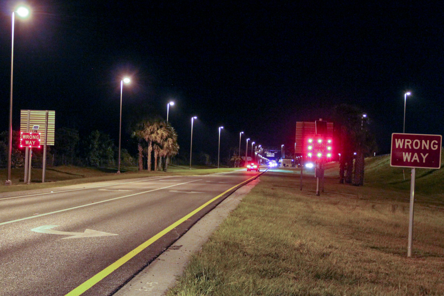 Nationwide, wrong-way crashes kill about 350 people a year and injure thousands more, according to the National Highway Traffic Safety Administration. (Photo: Florida Department of Transportation)