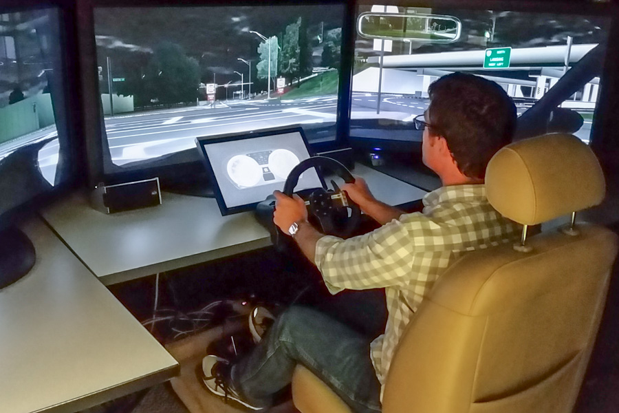 The research team also tested safety measures using FSU's driving simulators. (Photo: Professor Walter Boot)