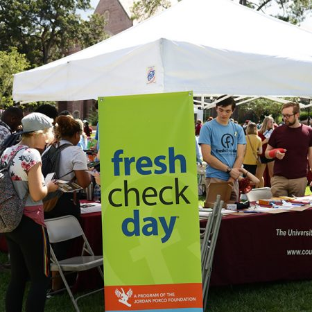 Florida State University hosted Fresh Check Day Friday, Sept. 28, on Landis Green, to raise awareness on mental health and suicide prevention.