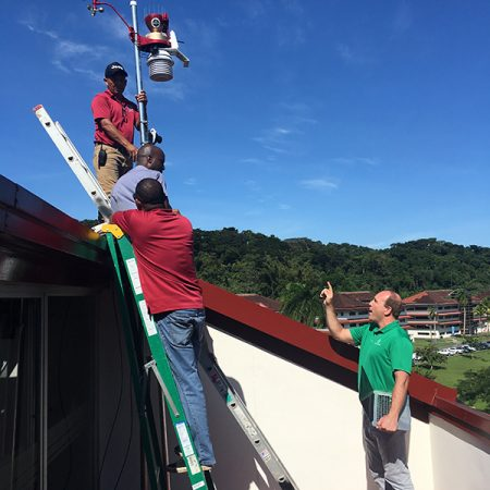 Florida State University-Panama is now home to the first international installation of WeatherSTEM, a weather tracker that sends out hyperlocal alerts and tracks data at a specific location.