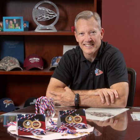 "William ""Billy"" Francis, director of FSU's Student Veterans Center, is dedicated to helping veterans thrive at Florida State. ""We want to be a national beacon of veteran support and success. We want to empower veterans."" (FSU Photography Services)"