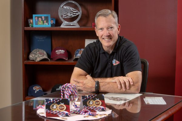 """William """"Billy"""" Francis, director of FSU's Student Veterans Center, is dedicated to helping veterans thrive at Florida State. """"We want to be a national beacon of veteran support and success. We want to empower veterans."""" (FSU Photography Services)"""