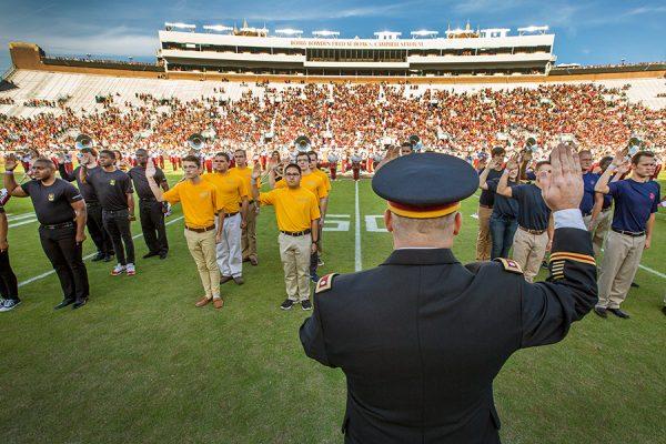 FSU-Boston College Military Appreciation football game Nov. 17, 2018 at Doak Campbell Stadium. (FSU Photography Services)