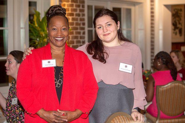 Carol Edwards, assistant professor of social work, and senior Victoria Gudbranson at the Transformation Through Teaching awards dinner Nov. 29, 2018. (FSU Photography Services)