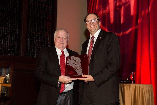 Don Gibson and Faculty Senate President Todd Adams