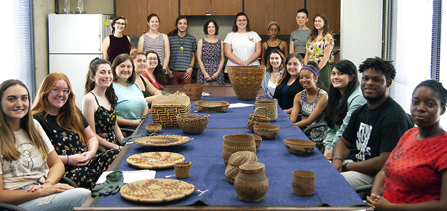 "This fall, undergraduate students in the Department of Art History's Museum Objects class developed the exhibition ""Interwoven: An Exploration of Native American Basketry."""