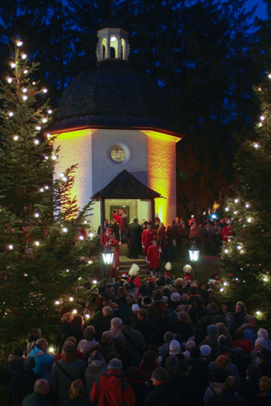 The Silent Night Memorial Chapel in Oberndorf, Austria, hosts an annual celebration and singalong. (Silent Night Association/Tourist Office, Oberndorf)