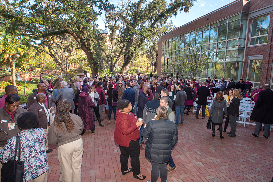 Mary B. Coburn Health and Wellness Center dedication Friday, Nov. 16, 2018. (FSU Photography Services)