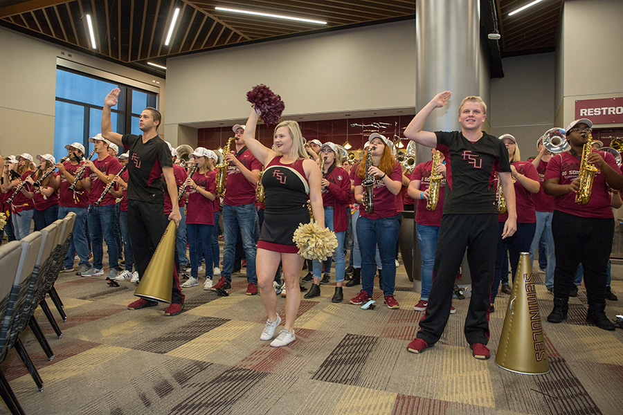 FSU NCAA Soccer Championship Celebration Dec. 3, 2018. (FSU Photography Services)