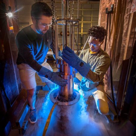 Undergraduates Taylor Stamm and Davon Valverde have worked at FSU's Center for Advanced Power Systems as research assistants to faculty there.