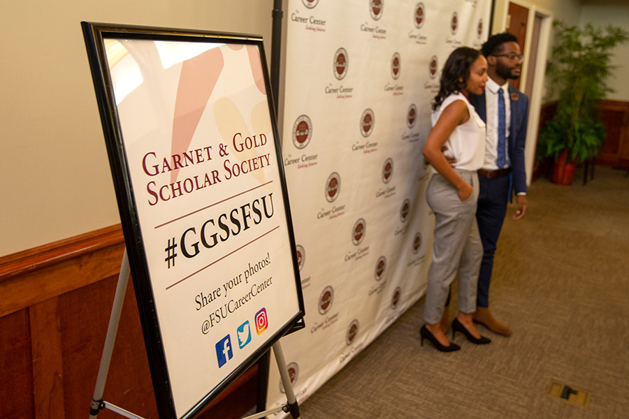 Garnet and Gold Scholar Society induction ceremony Dec. 4, 2018. (FSU Photography Services)