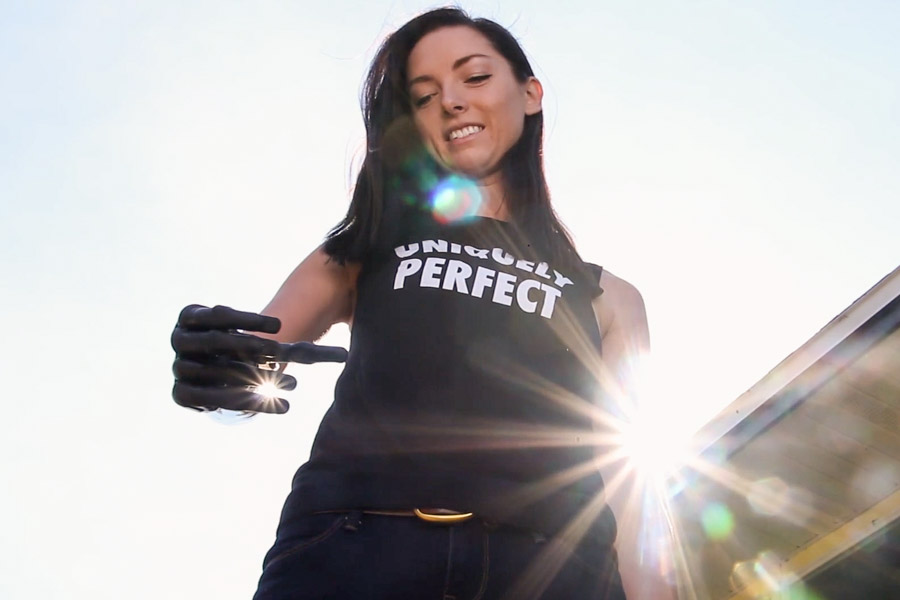 """Ashley Sherman uses the Touch Bionics i-Limb Quantum. She takes pride in being a role model for children. """"People say,'Wow, that's a cool robot arm! Tell me how it works.' It's really cool to connect with people and let them know these prosthetics are here and available."""""""