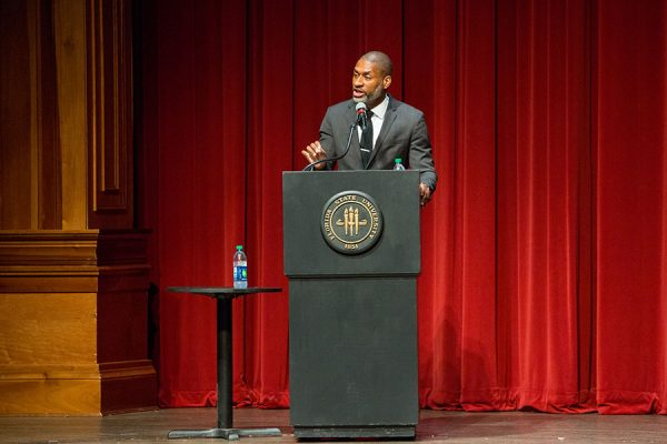 New York Times columnist and political commentator Charles Blow. (FSU Photo/Bill Lax)