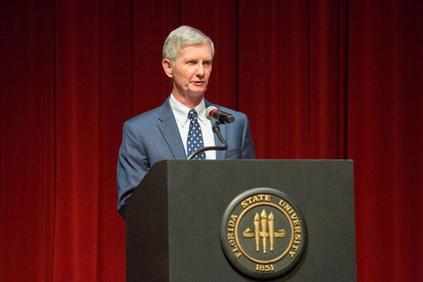 FSU College of Medicine John Dean Fogarty accepted the award on Berne-Anderson's behalf. (FSU Photo/Bill Lax)