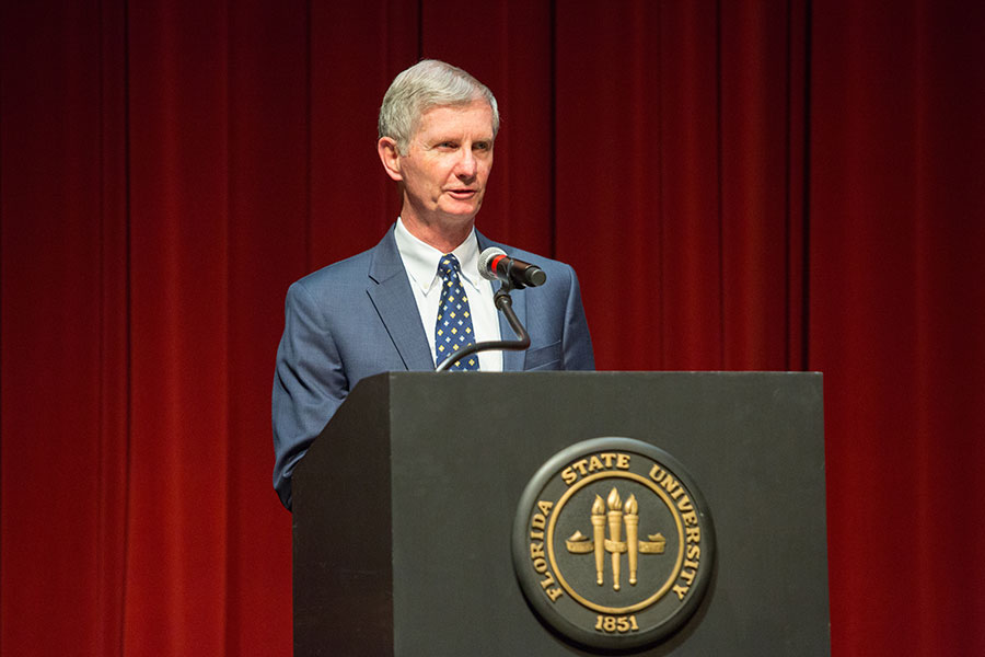 FSU College of Medicine John Dean Fogarty accepted the award on Berne-Anderson's behalf. (FSU Photo/Bill Lax)