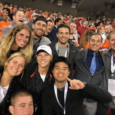 FSU Sport Management students and faculty member Jason Pappas attending the National Championship Game