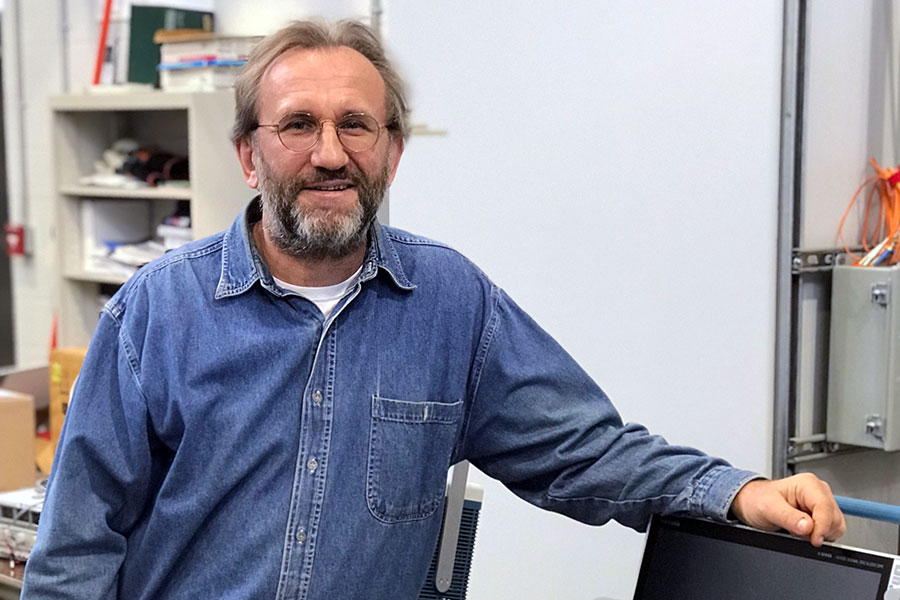 "Michael ""Mischa"" Steurer, a researcher at FSU's Center for Advanced Power Systems."