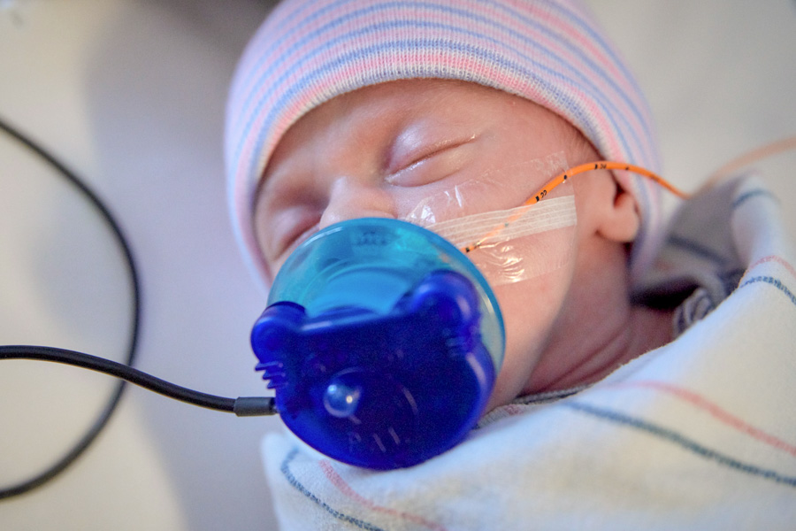 Standley's research has shown that babies in a NICU often experience reduced pain, stabilized heart rate, higher oxygen levels, lower stress and better health outcomes when they hear the sound of soothing music in noisy neonatal intensive care units. (Photo: Tallahassee Memorial HealthCare)
