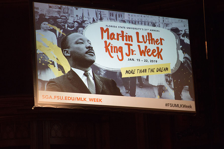 The 31st Annual FSU MLK Week was a week full of opportunities for celebration, service and dialogue on the civil rights movement of the past and social justice issues in America today. (FSU Photo/Bill Lax)