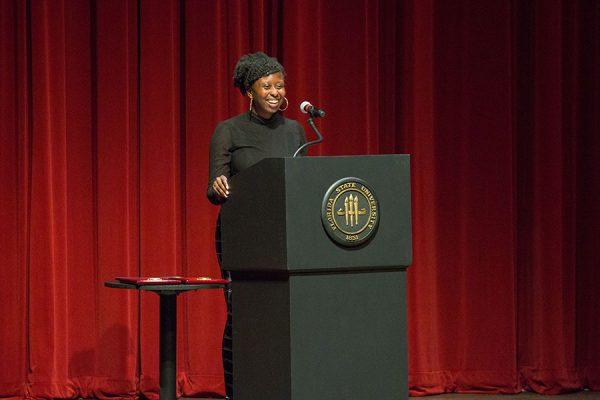 FSU Student Body President Stacy Pierre. (FSU Photo/Bill Lax)