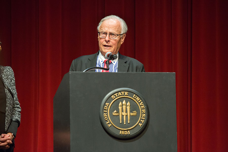 Wiedner is dean emeritus of the FSU college of law and alumni centennial professor. (FSU Photo/Bill Lax)