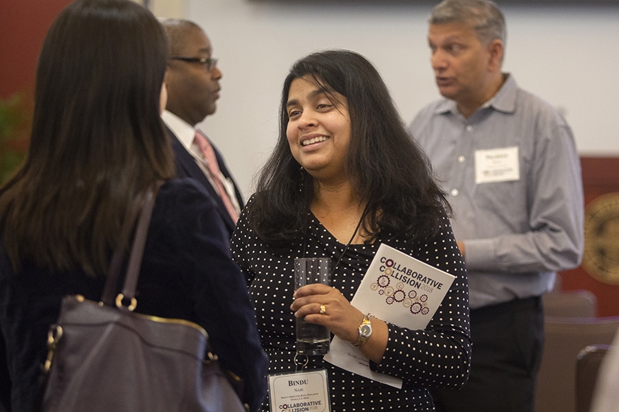 Bindu Nair from the Department of Defense served as keynote speaker at Florida State's Collaborative Collision event, Feb. 5, 2019. (FSU Photography Services) 2019