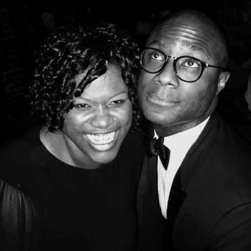 Barry Jenkins and Joi McMillon share a birthday laugh in 2018. (Photo: Barry Jenkins' Twitter feed: @BarryJenkins)