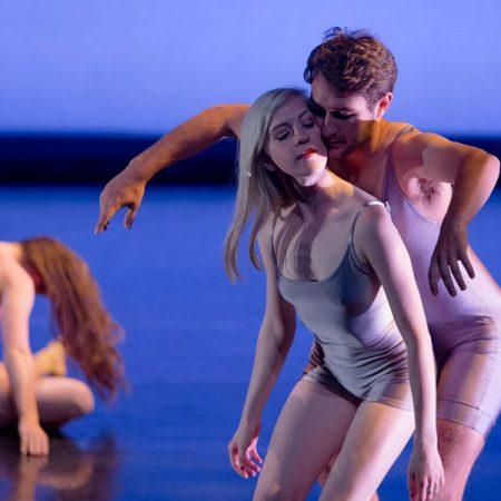 "Dancers Mackenzie Pane, Rachel Hickman and Aaron Smith perform Bridget Close's ""Consider the Source."" (Photo: Meagan Helman)"